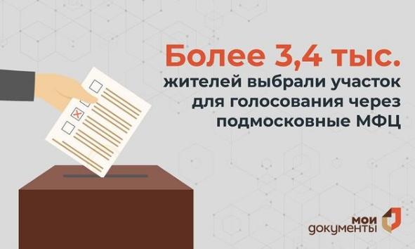 Жители Люберец смогут выбрать участок для голосования через МФЦ до 13 сентября